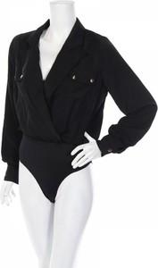 Czarna bluzka 4th Reckless z długim rękawem z dekoltem w kształcie litery v