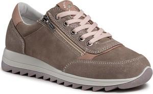 Brązowe buty sportowe Primigi sznurowane