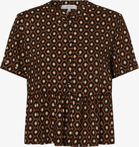Brązowa bluzka Apriori z krótkim rękawem z okrągłym dekoltem