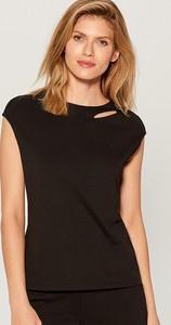 Czarna bluzka Mohito w stylu casual