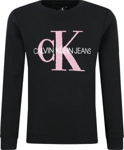 Brązowa bluza dziecięca Calvin Klein z jeansu