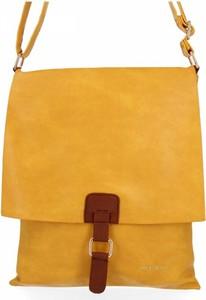 Żółta torebka Bee Bag na ramię ze skóry ekologicznej