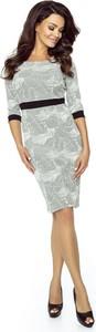 Sukienka Bergamo ołówkowa midi z długim rękawem