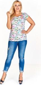 Bluzka Kosek z okrągłym dekoltem w stylu casual