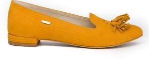 Baleriny Zapato w stylu casual z płaską podeszwą ze skóry