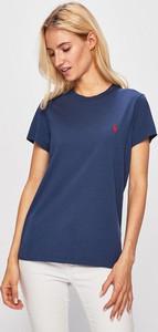 Niebieski t-shirt POLO RALPH LAUREN z bawełny w stylu casual