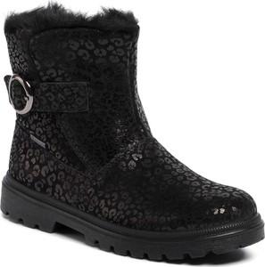Czarne buty dziecięce zimowe Superfit z goretexu z klamrami