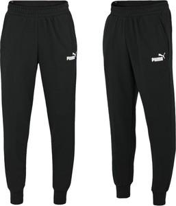 Czarne spodnie Puma w sportowym stylu z bawełny