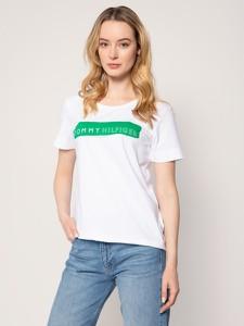 T-shirt Tommy Hilfiger z krótkim rękawem w młodzieżowym stylu z okrągłym dekoltem