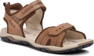 Brązowe buty dziecięce letnie Lasocki Young na rzepy
