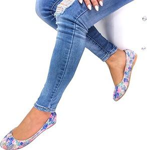 Baleriny Abloom z tkaniny w stylu casual