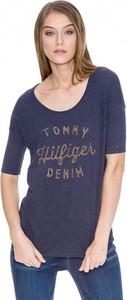 T-shirt Hilfiger Denim w młodzieżowym stylu z krótkim rękawem