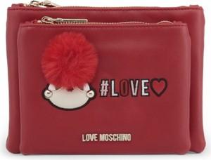 25aee18b015e6 Czerwone torebki z pomponami Love Moschino