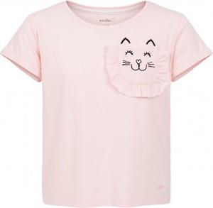 Różowa koszulka dziecięca Endo z krótkim rękawem