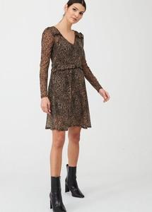 Sukienka V by Very z dekoltem w kształcie litery v z długim rękawem
