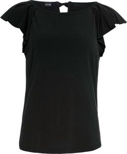 Czarny t-shirt bonprix BODYFLIRT