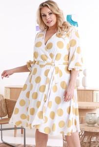 Sukienka KARKO z długim rękawem w stylu casual mini
