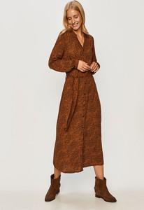 Sukienka JACQUELINE DE YONG z tkaniny z długim rękawem