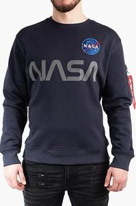 Niebieska bluza Alpha Industries z bawełny
