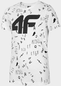 Koszulka dziecięca 4F z krótkim rękawem z bawełny