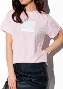 Różowy t-shirt Lemoniade z krótkim rękawem