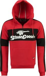 Czerwona bluza Stone Goose z bawełny