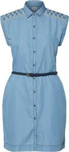 Niebieska sukienka Pepe Jeans mini w stylu casual bez rękawów