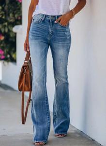 Niebieskie jeansy Cikelly w stylu casual z jeansu