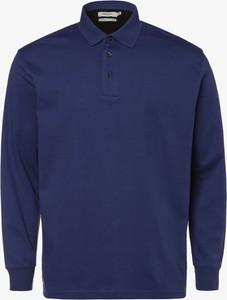 Granatowa koszulka polo Mc Earl z długim rękawem
