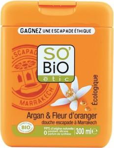 SO BIO, Żel pod prysznic, Agran i Kwiat Pomarańczy, 300 ml