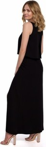 Czarna sukienka Makover z tkaniny