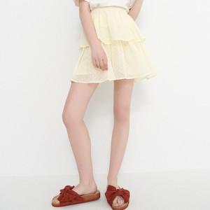 Żółta spódnica House mini w stylu casual