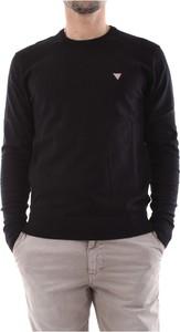 Czarny sweter Guess w stylu casual z dzianiny