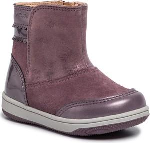 Różowe buty dziecięce zimowe Geox