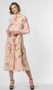 Sukienka Marie Lund z dekoltem w kształcie litery v midi rozkloszowana