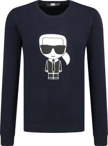 Sweter Karl Lagerfeld w młodzieżowym stylu z nadrukiem