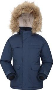 Granatowa kurtka dziecięca Mountain Warehouse z wełny