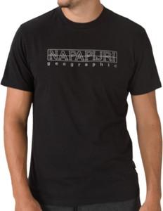 T-shirt Napapijri z bawełny z krótkim rękawem w młodzieżowym stylu