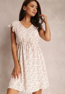 Sukienka Renee mini z dekoltem w kształcie litery v z krótkim rękawem