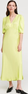 Zielona sukienka Reserved z długim rękawem maxi