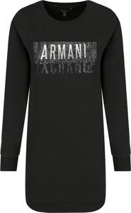 Czarna sukienka Armani Jeans z długim rękawem w stylu casual mini