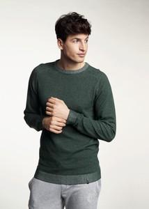 Zielony sweter Ochnik w stylu casual z okrągłym dekoltem