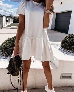 Sukienka Kendallme mini z krótkim rękawem z okrągłym dekoltem