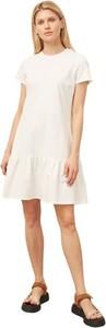 Sukienka ECHO mini z krótkim rękawem z dzianiny