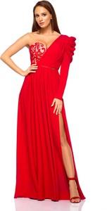 Sukienka LAVIKA z tkaniny gorsetowa