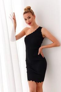 Czarna sukienka Fasardi dopasowana