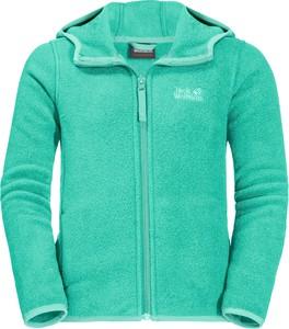 Zielona bluza dziecięca Autoryzowany Sklep Jack Wolfskin dla chłopców z polaru