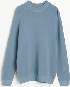 Niebieski sweter Reserved z okrągłym dekoltem