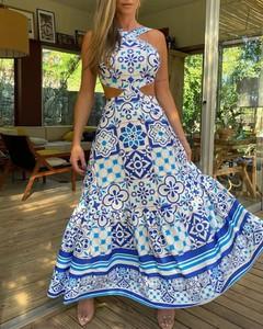 Sukienka Kendallme bez rękawów maxi z okrągłym dekoltem