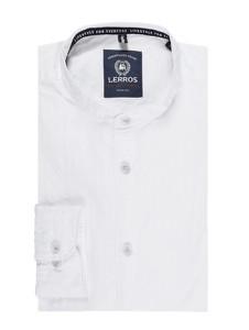 Koszula Lerros z długim rękawem ze stójką